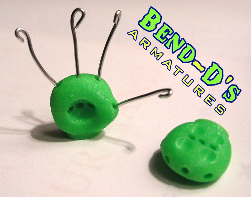 Bend-D's Spare Hands W/Wire (Green Color)