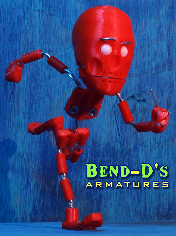 Bend-D's [Simple] Armature Kit 7.5 inches tall (Pink Color)