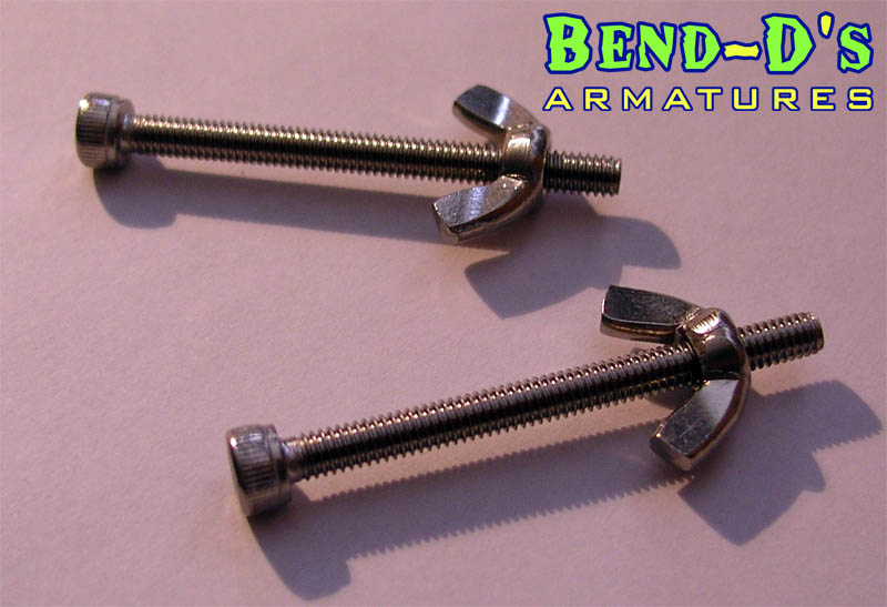 Bend-D's 2X M4 Stainless Steel Tie Downs