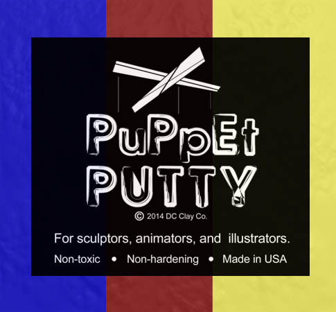 Puppet Putty Tri Pack (Blue,Red,yellow) 7oz