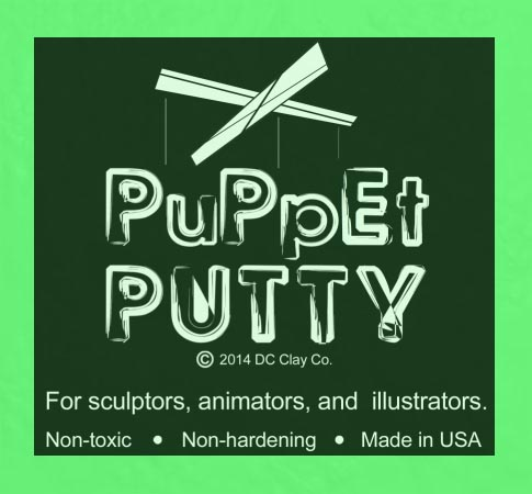 Puppet Putty Toy Green 7oz