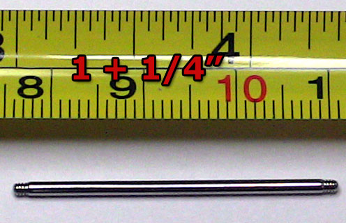 "1 1/4""Stainless Steel Rod with Threaded Ends"