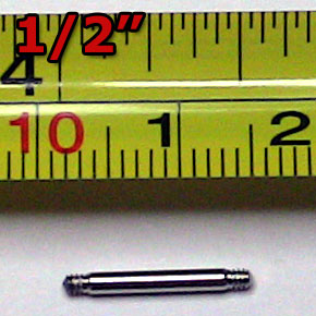 "1/2"" Stainless Steel Rod with Threaded Ends"