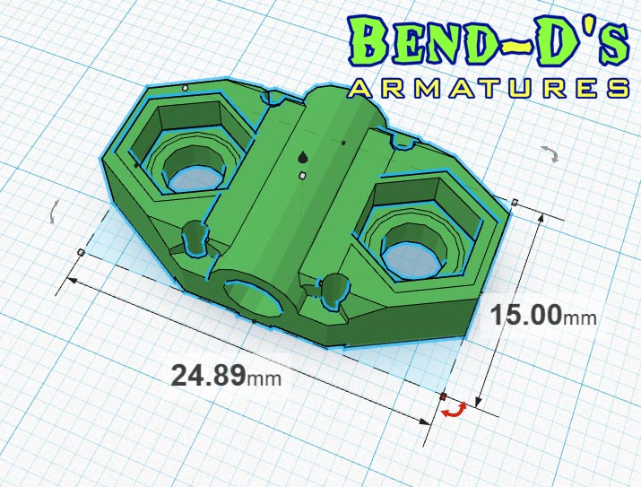 Bend-D's Spine Attachment Add-On (Blue Color)