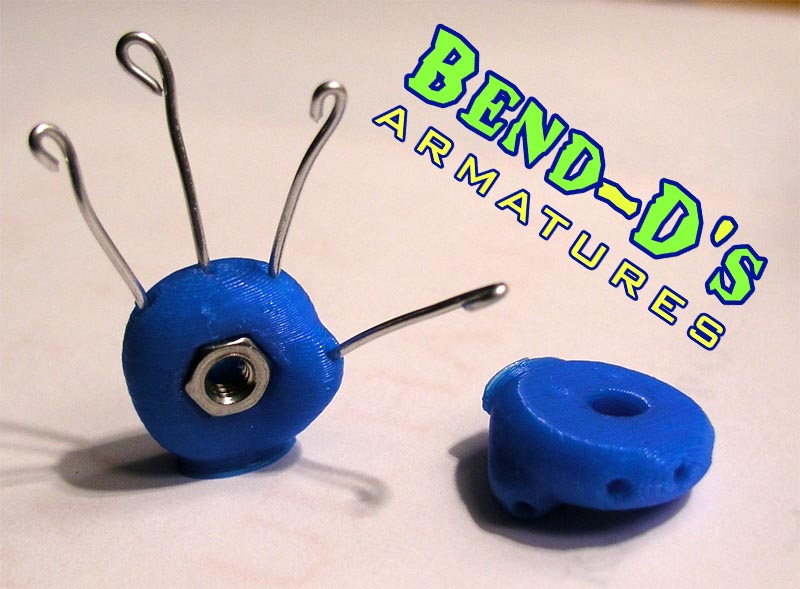 Bend-D's Tie Down Hands W/Wire (Blue Color)