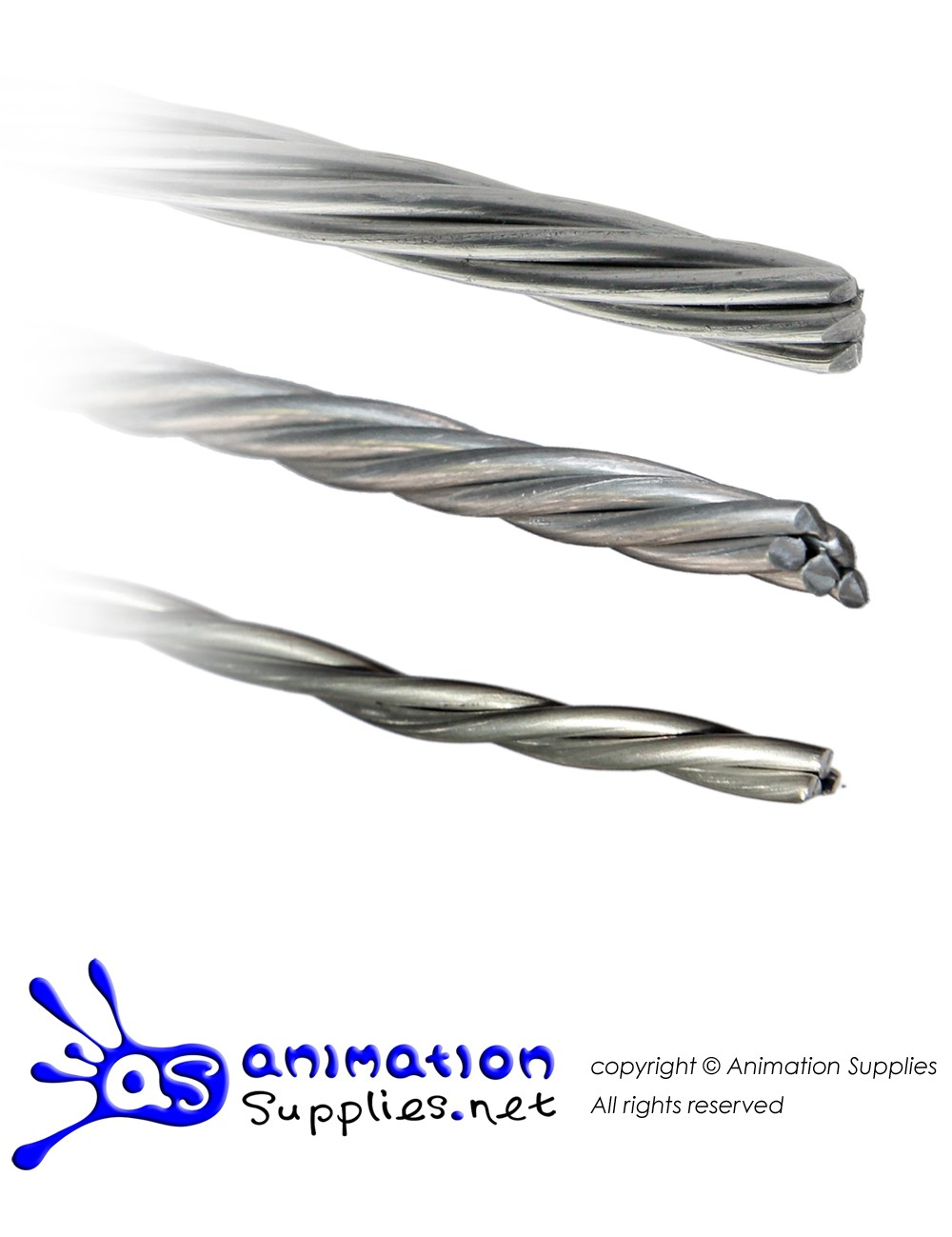 AS Twisted 2mm Aluminium Wire (3 Strands) - 8 meters