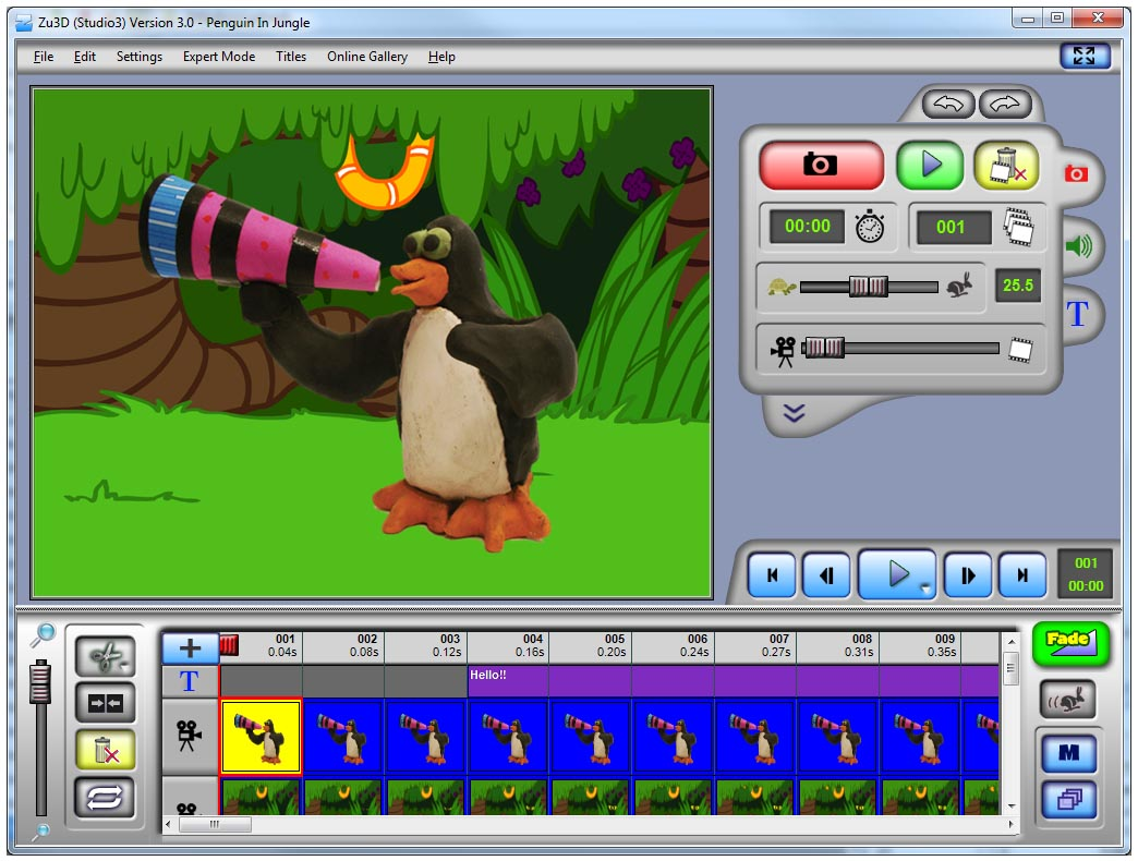 Zu3D M-Edition Stop-Motion Software (Single License) - Click Image to Close
