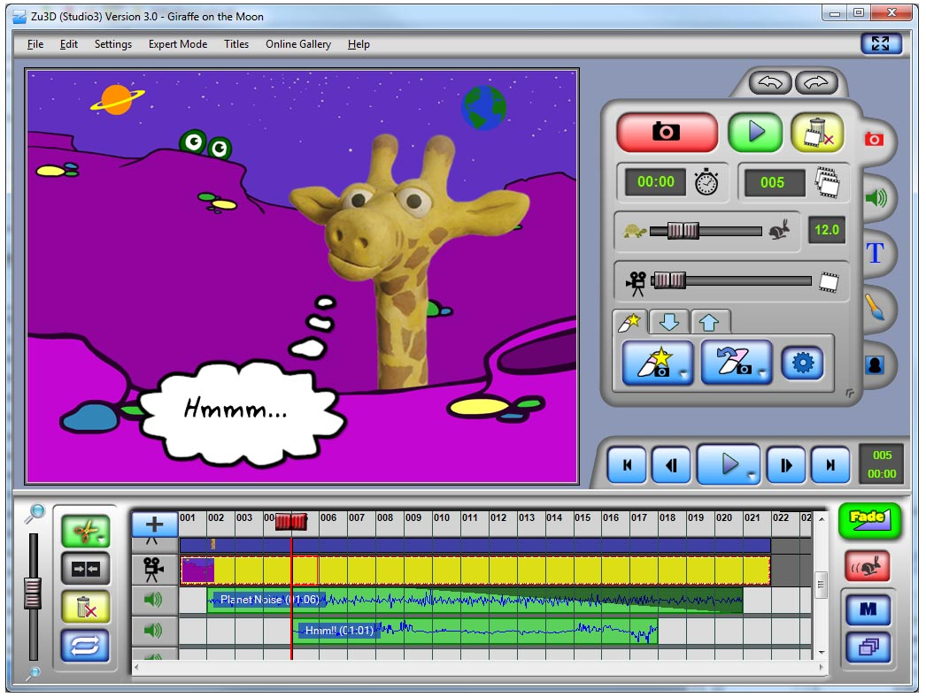 ZU3D Stop-Motion Software Studio3 (new!)